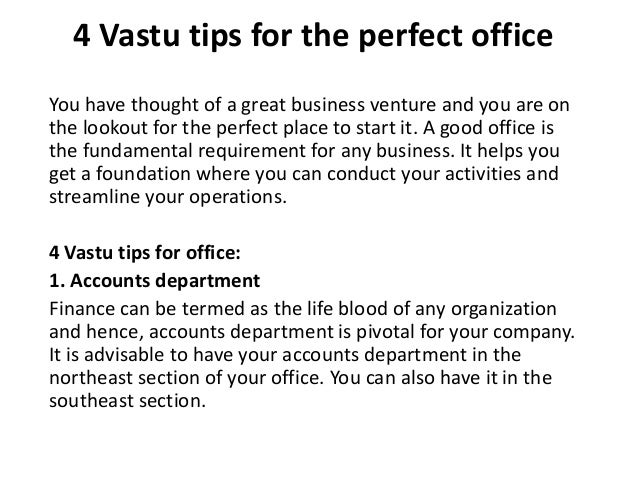 4 vastu tips for the perfect office