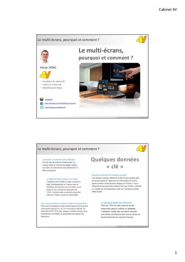 Cabinet4V1Lemulti‐écrans,pourquoietcomment?©Cabinet4V– Tousdroitsdereproductionréservés‐ 2013Lemulti‐écrans...