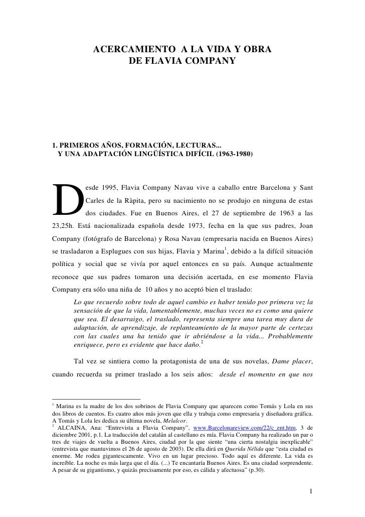 4 Vida Y Obra De Flavia Company 1963 2000