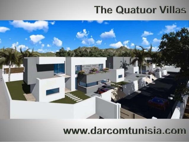 Darcom vous propose 4 villas conçues dans un esprit « lodge moderne » nichées au cœur de la Soukra, dans un havre de paix....