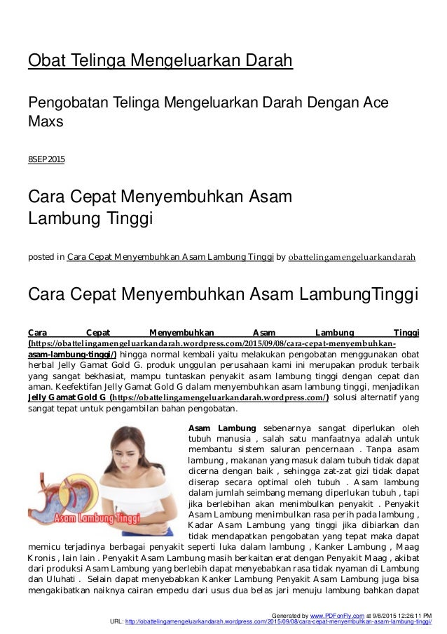 Madu Herbal Asam Lambung