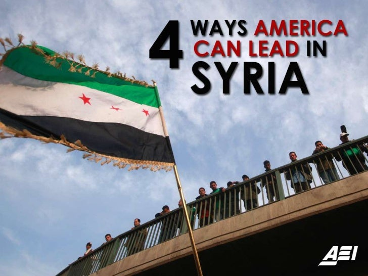 4 ways America can lead in Syria