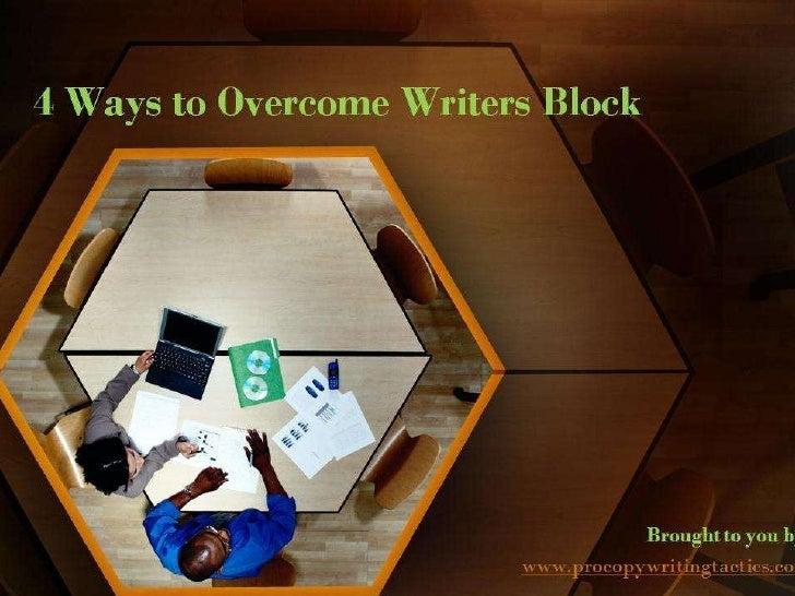 4 ways to overcome writers block