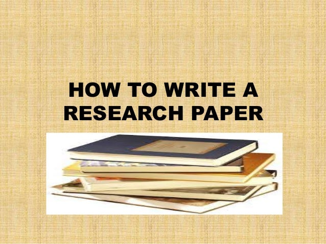 Education how to write a researc paper
