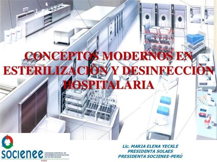 Conceptos modernos esterilización y desinfeccion - CICAT-SALUD