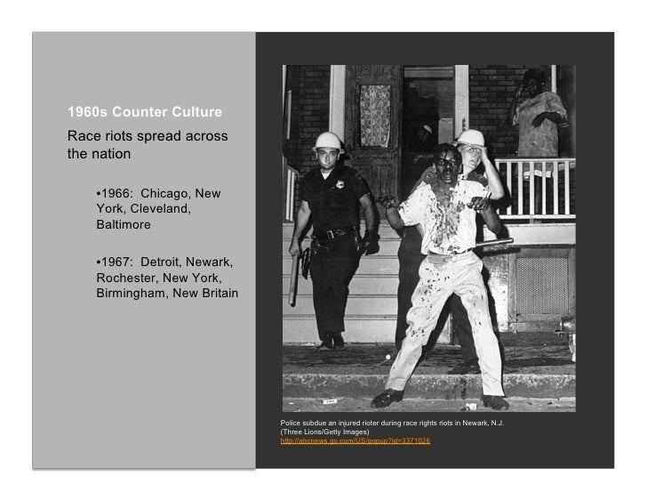 the countercultures of the 1960s and 2000s The counterculture faded by the late 1960s for a number of reasons first, a rivalry was established between hippies and the radical left-wing group known as the diggers.