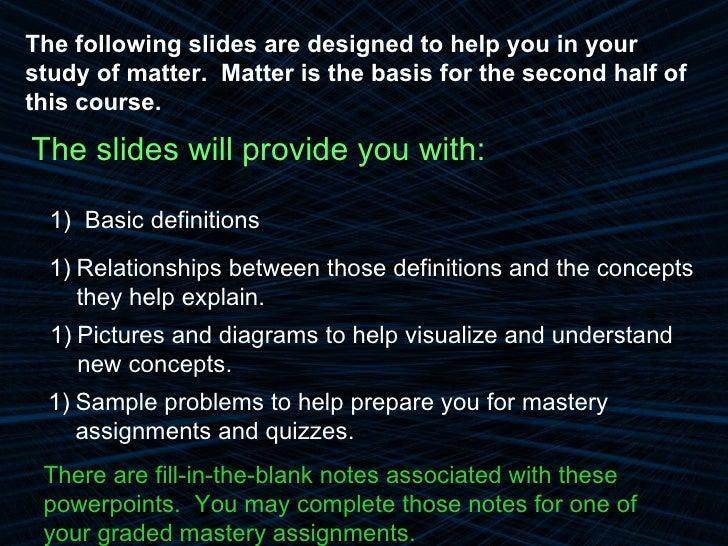 5 1.1 Matter Powerpoint Part A Classification Of Matter