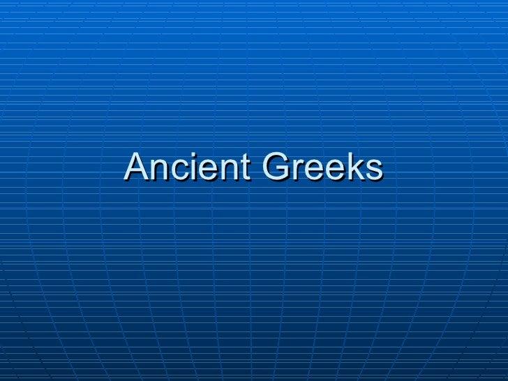 5.1   ancient greece