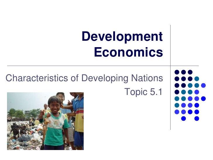 5.1   Development Economics   Introduction