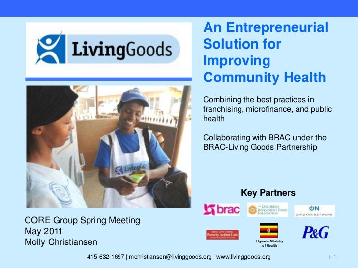 Uganda Ministry of Health<br />An Entrepreneurial Solution for Improving Community Health Combining the best practices in ...