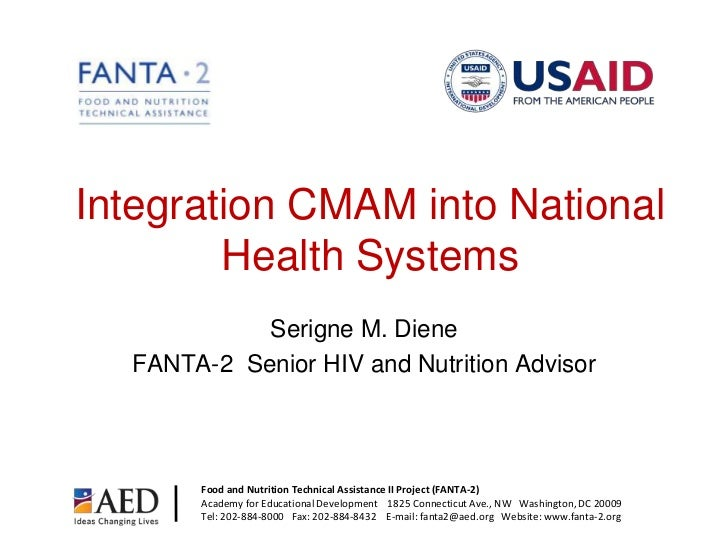 Lessons in the Integration of CMAM & IMCI Activities_Diene_5.12.11