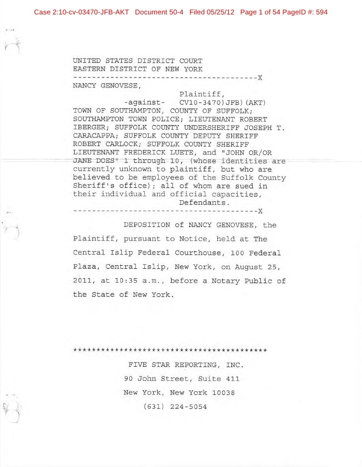 Ex C1: Deposition of Nancy Genovese