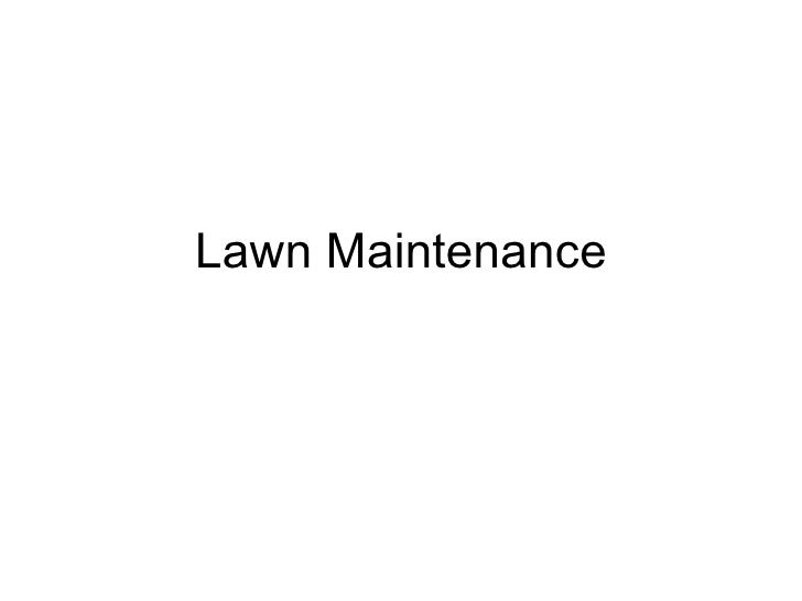 5 12 lawn maintenance