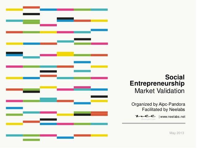 Market ValidationMay 2013SocialEntrepreneurship| www.neelabs.netOrganized by Aipc-PandoraFacilitated by Neelabs