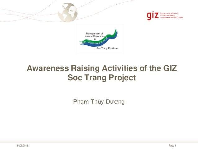 5. Awareness raising activities of the GIZ Soc Trang project
