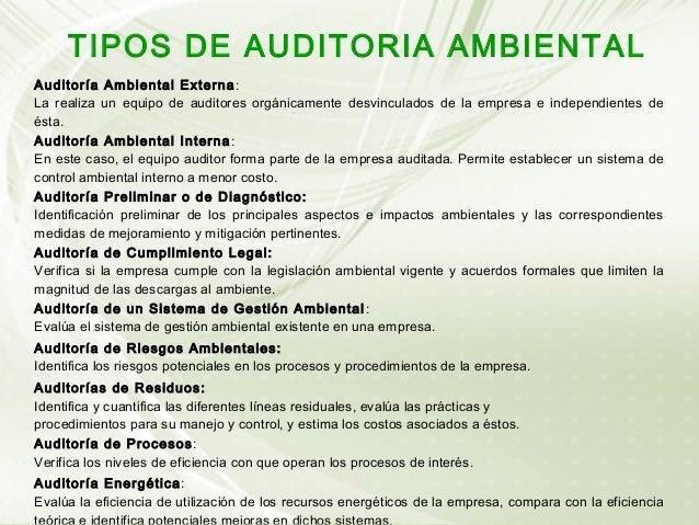 Auditoria Ambiental Interna Auditoría Ambiental Interna