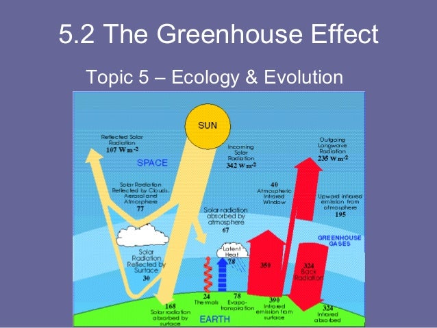 5.2 The Greenhouse Effect Topic 5 – Ecology & Evolution