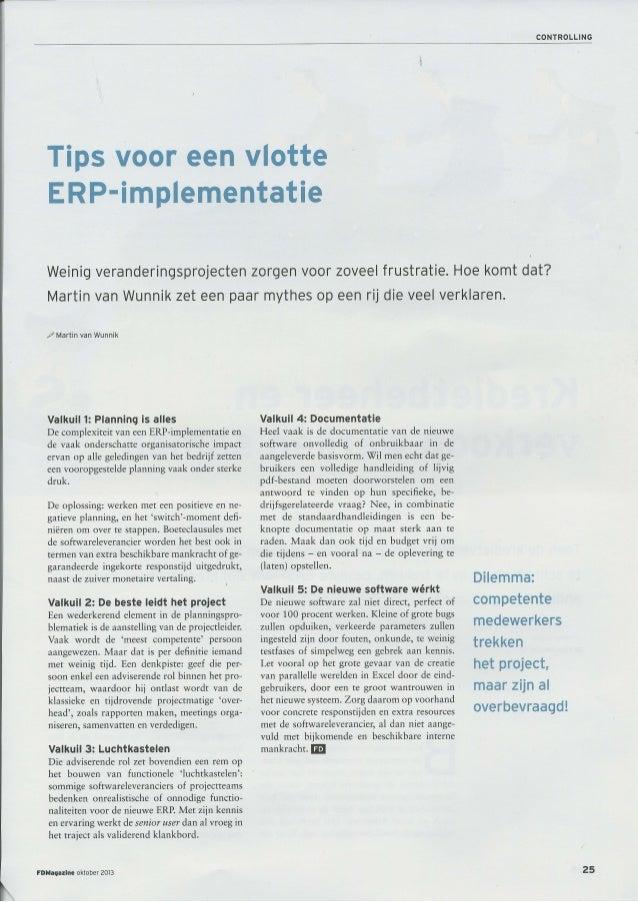 5 Tips voor een vlotte ERP implementatie