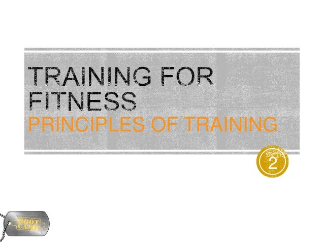 5. principles of training