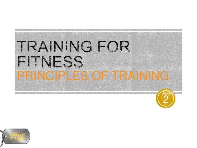 5. principles of training
