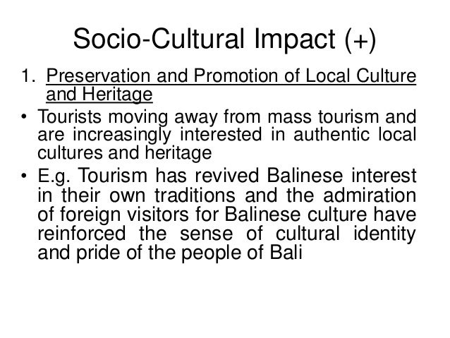 impact of socio economic and cultural changes