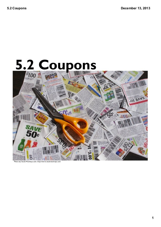 5.2 Coupons