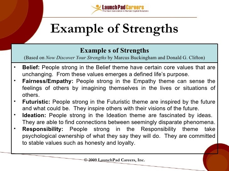 example of personal strengths