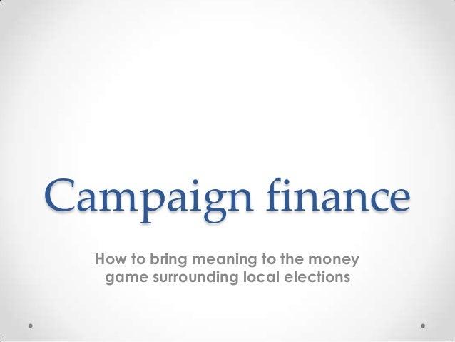 Scott Swafford, Mining online campaign finance records