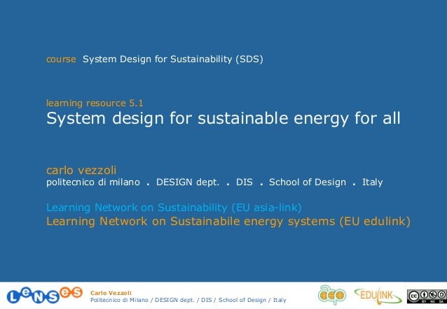 5.1 system design for sustainable energy for all vezzoli 13_14