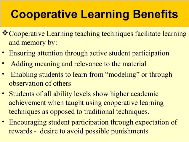 the cooperative education learning model as