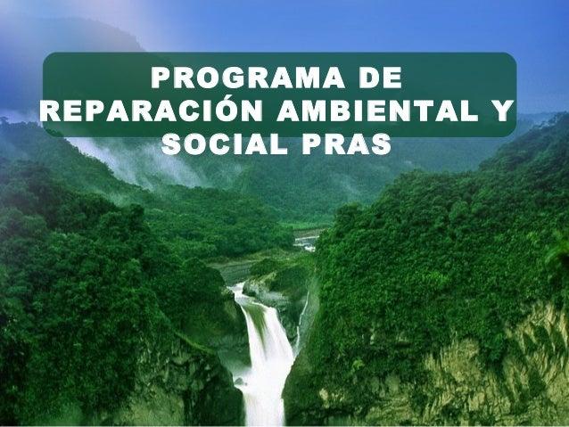 PROGRAMA DE REPARACIÓN AMBIENTAL Y SOCIAL PRAS