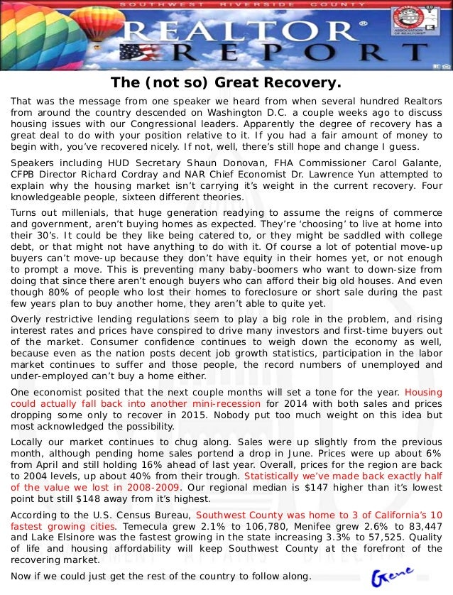 May 2014 Realtor Report