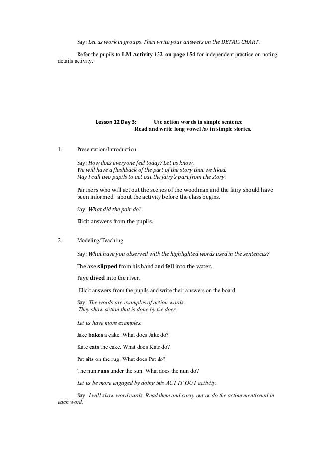 detailed lesson plan in english verb We have 7 future tense lesson plans  future tense lesson plans: 7-part series  there are a variety of constructions to express the future tense in the english.