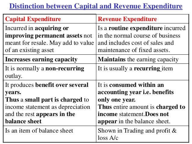 5 Capital And Revenue