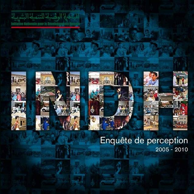 Enquête de perception 2005 - 2010