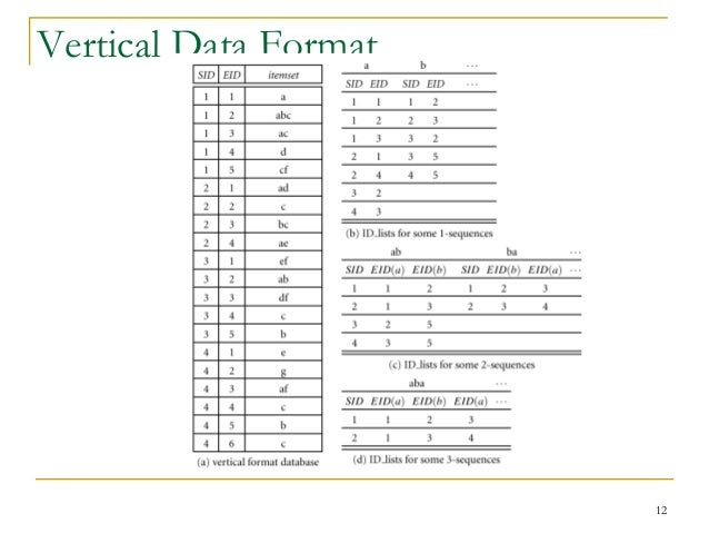 Data Vertical 12 Vertical Data Format