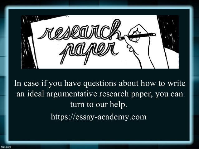 Argumentative research topic