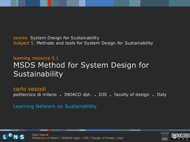 5.1 method for system design for sustainability vezzoli 09-10 (33)