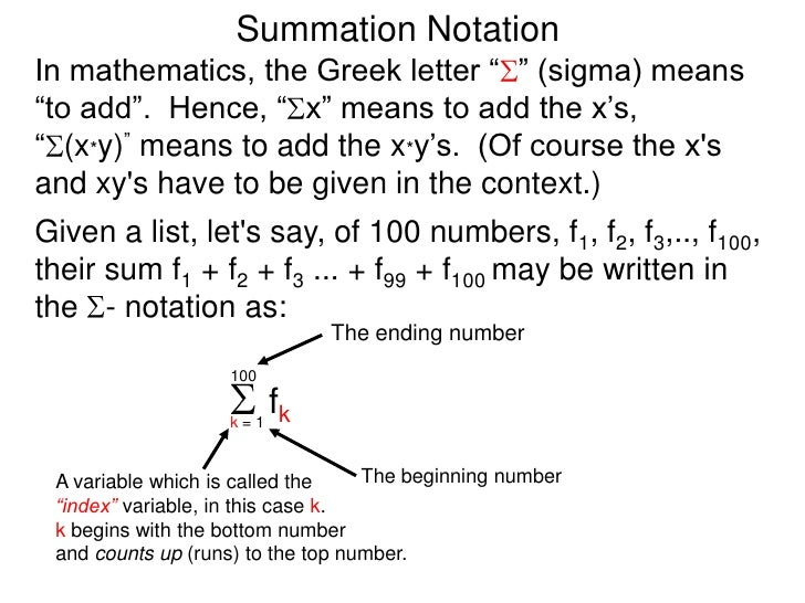 Summation Format Ibovnathandedecker