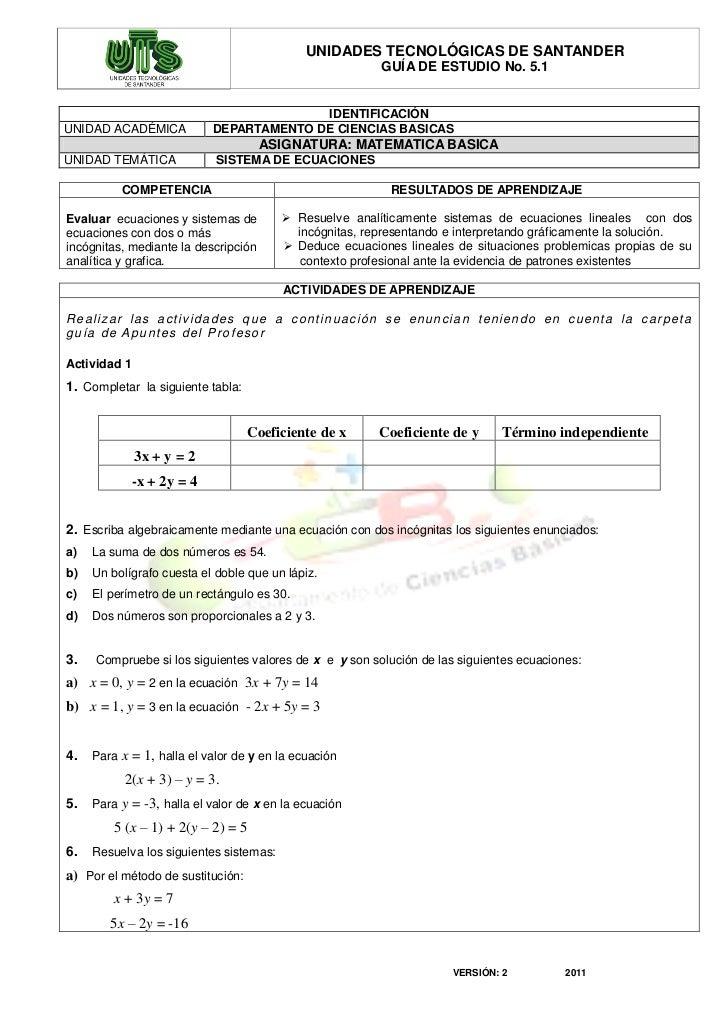 UNIDADES TECNOLÓGICAS DE SANTANDER                                                                        GUÍA DE ESTUDIO ...