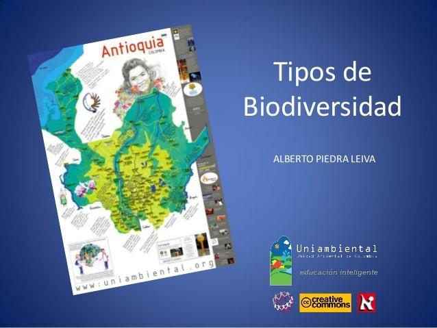 ALBERTO PIEDRA LEIVA  Tipos de  Biodiversidad