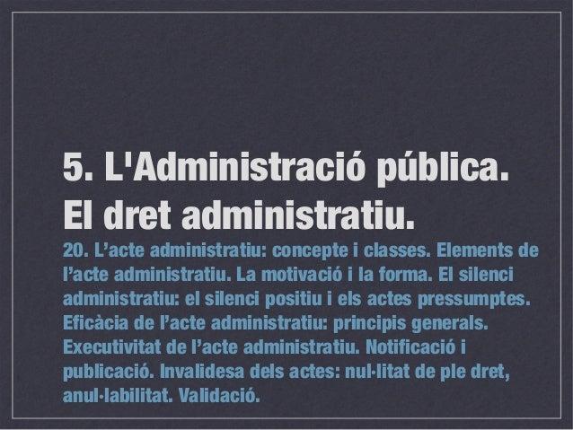 Bloc 5. Tema 20. Cos de gestió. Generalitat de Catalunya