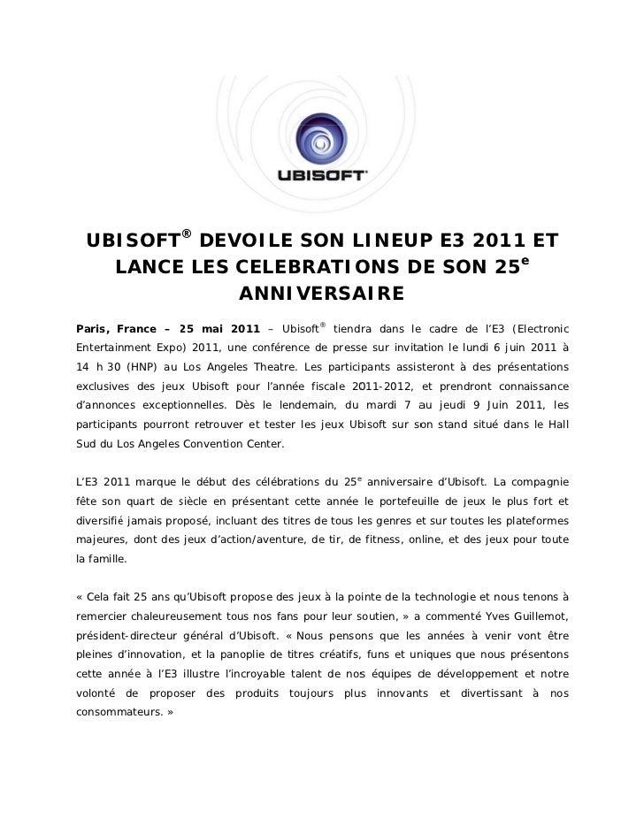 ISOFT® DEV  UBI        VOILE SON L                   S   LINEUP E3 2                             P   2011 E               ...