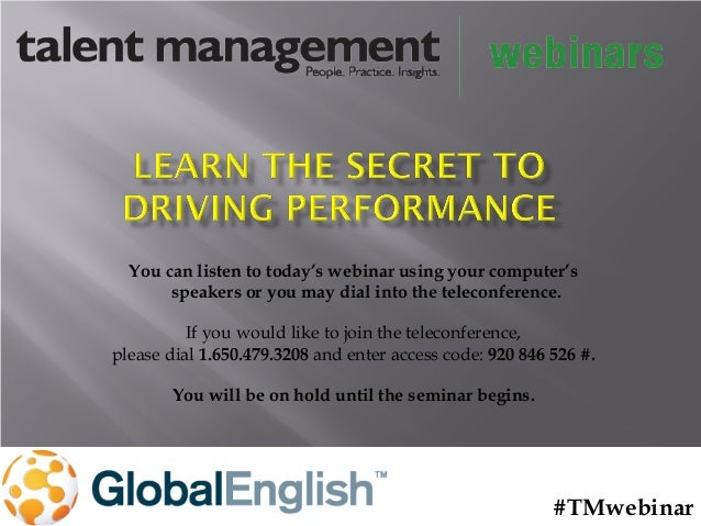 Learn the Secret to Driving Performance