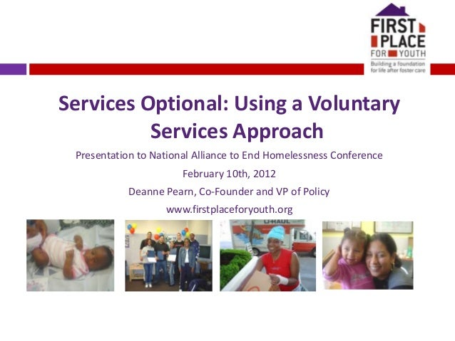 5.2 Services Optional: Using a Voluntary Services Approach