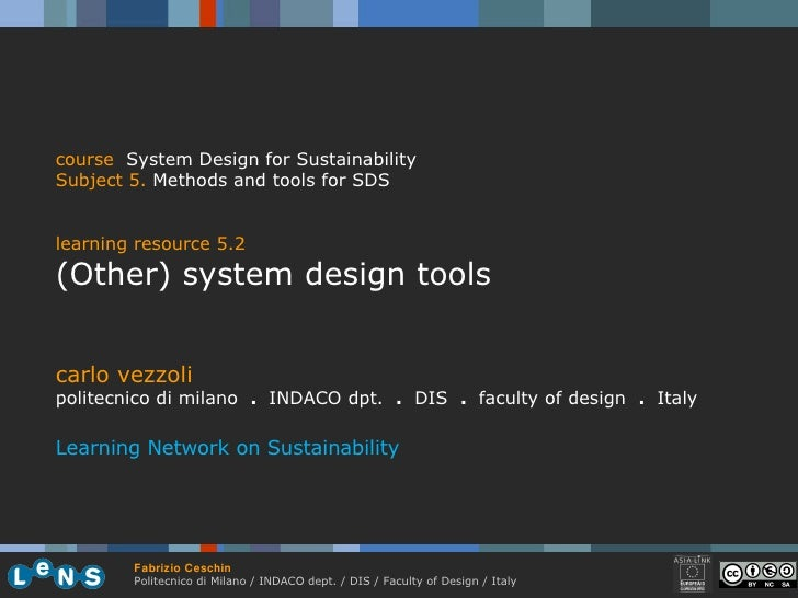 5.2 (Other) System Design Tools