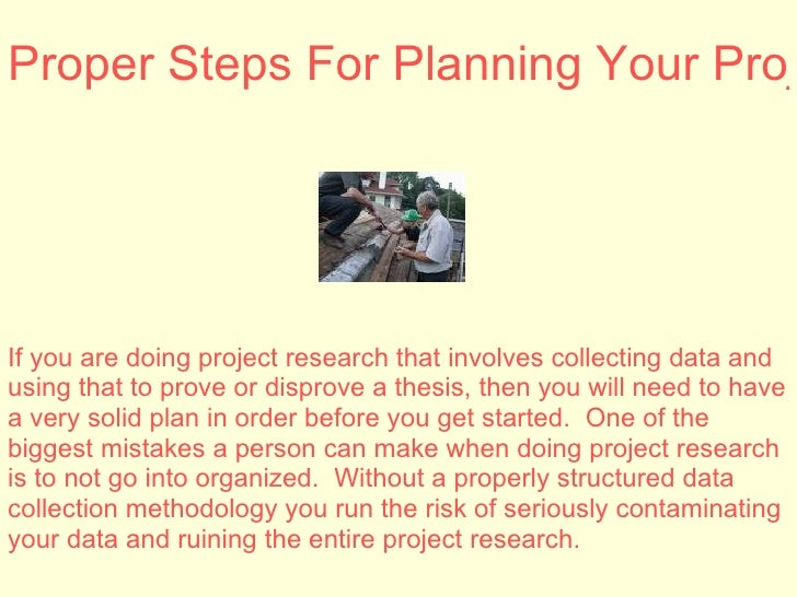 Planning research project