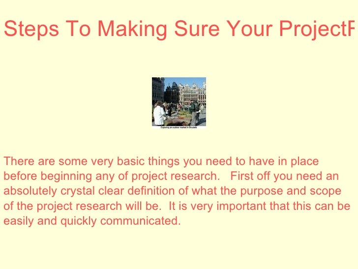 Research project steps