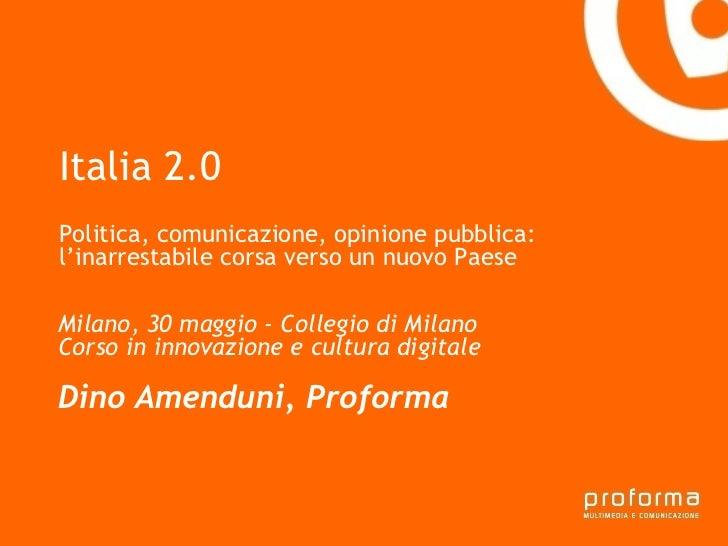 Italia 2.0 - L'inarrestabile corsa verso un nuovo Paese