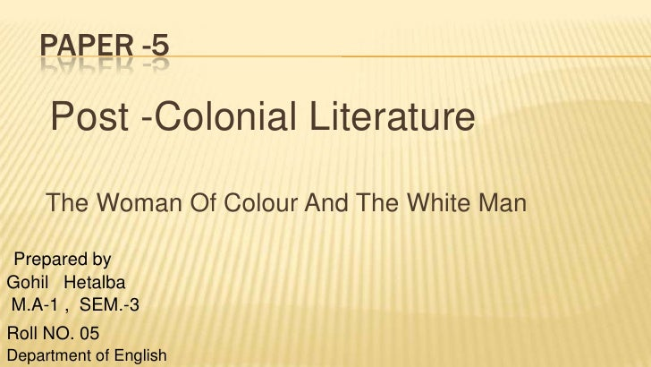 The woman of colour and the white man.